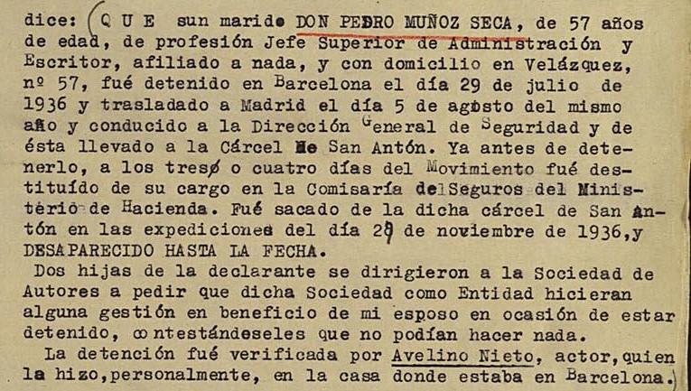 Listados de las víctimas de la guerra civil en la ciudad de Madrid: represaliados por la República o el Frente Popular